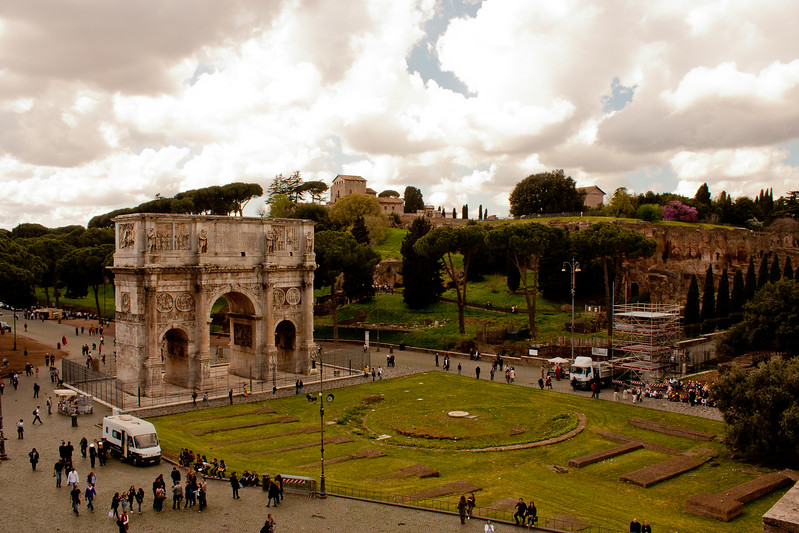Arches and Architecture in Rome Italy