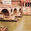 Arches under the Bridge in Rome Italy