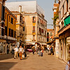 Shops and Street in Venice Italy
