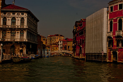 Bridge and Buildings in Venice Italy