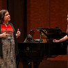Internationally renowned Mezzo-soprano Jamie Barton gives a masterclass at CCM. Shown here working with student Brianna Bragg.
