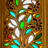 Coloured Glass Window in Rajasthan Building