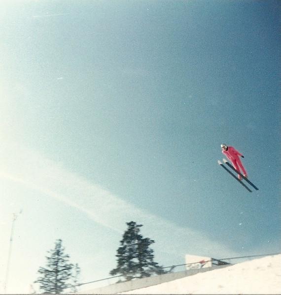Corky Denisson:  Holmenkollen Ski Jump, Oslo Norway 1991