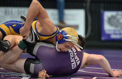 Action from the Northern Section Master's Wresting Tournament in Redding on Friday, February 15. (Matt Bates -- Enterprise-Record)