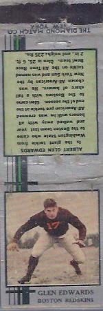 1933 Diamond Matchbooks Turk Edwards