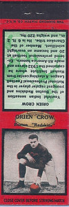 1934 Diamond Matchbooks Orien Crow