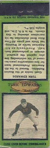 1934 Diamond Matchbooks Turk Edwards