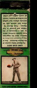 Lone Star Dietz 1934 Diamond Matchbooks Green