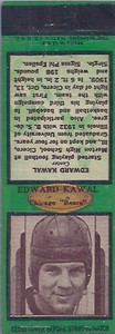 1936 Diamond Matchbooks Eddie Kawal