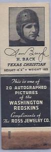 1939 Ross Jewelry Matchbooks Sammy Baugh