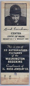 1939 Ross Jewelry Matchbooks Bud Erickson