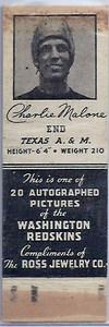 1939 Ross Jewelry Matchbooks Charlie Malone