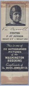 1939 Ross Jewelry Matchbooks Vic Carroll