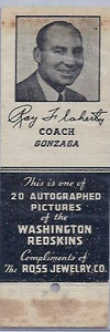 1939 Ross Jewelry Matchbooks Ray Flaherty