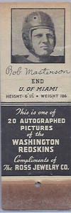 1939 Ross Jewelry Matchbooks Bob Masterson