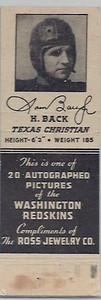 1940 Ross Jewelry Matchbooks Sammy Baugh