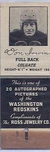1939 Ross Jewelry Matchbooks Don Irwin