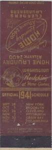 1941 Home Laundry Matchbooks  Outside Cover