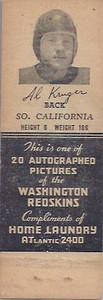 1942 Home Laundry Matchbooks Al Krueger