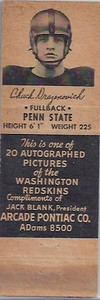 1951 Arcade Pontiac Matchbooks Chuck Drazenovich