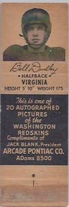 1951 Arcade Pontiac Matchbooks Bill Dudley