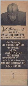 John Badaczewski 1951 Arcade Pontiac Matchbooks