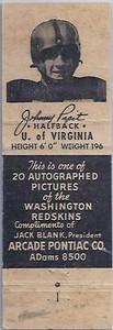 1951 Arcade Pontiac Matchbooks Johnny Papit