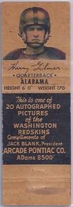 1951 Arcade Pontiac Matchbooks Harry Gilmer