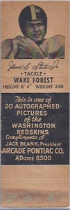 1951 Arcade Pontiac Matchbooks James Staton