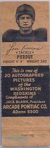 1951 Arcade Pontiac Matchbooks Lou Karros