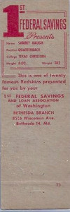 1958 First Federal Matchbooks Sample Back
