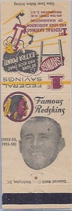 1958 First Federal Matchbooks Eddie LeBaron