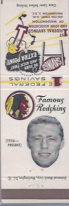 Dick James 1960 First Federal Bank Redskins Matchbooks