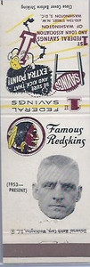 Johnny Olszewski 1960 First Federal Bank Redskins Matchbooks