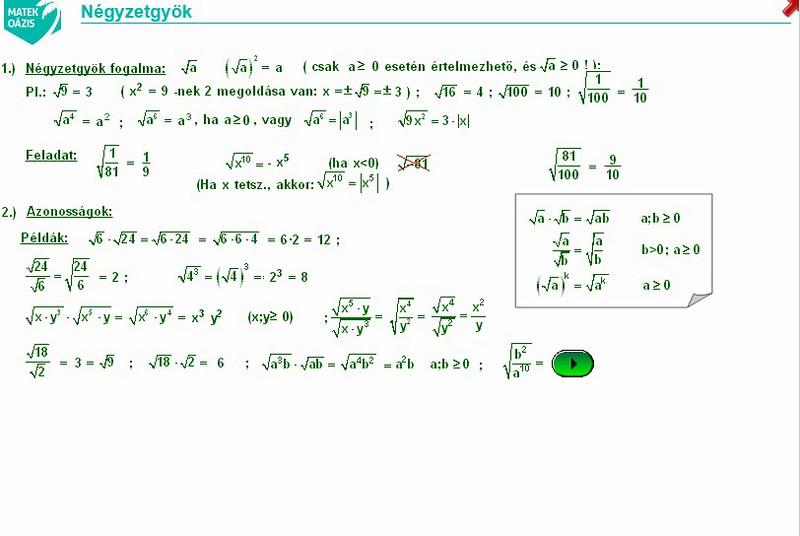 10 - gyökvonás - 01 - négyzetgyök (b)