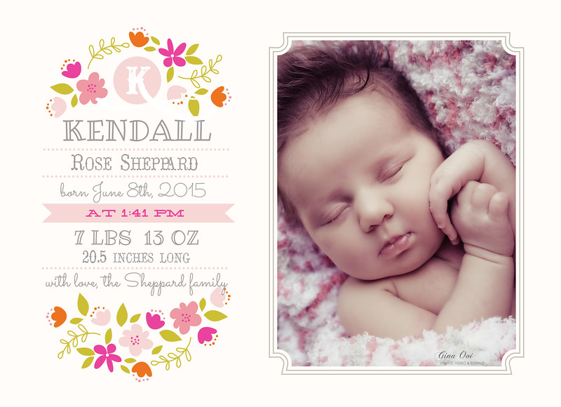 A Birth Announcement Card