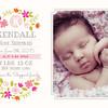 A Birth Announcement Card