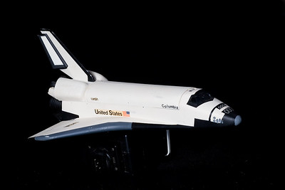 The Columbia space shuttle.