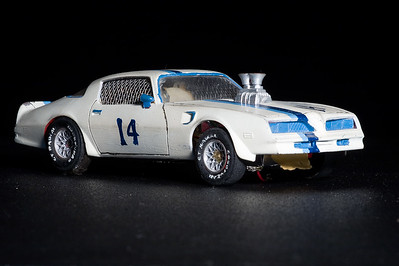 My scratch built Trans Am slot car....never finished it.