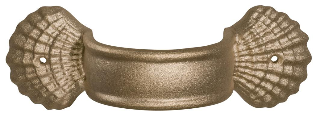 "Large Shell Brackets<br /> 4 inch round only<br /> <br />  <br /> FMBWBS4 	4"" brass - wide band shell 	10½"" x 4¼"" 	4.1 lbs 	$37.00<br />  <br /> FMAWBS4 	4"" aluminum - wide band shell 	10½"" x 4¼"" 	1.5 lbs 	$19.00"