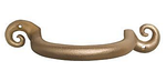 "Open Curl style downspout bracket<br /> <br /> FMBOC3 	3"" brass - Open Curl 	6¼ x 3¾ 	1.15 lbs 	$29.00<br /> FMBOC4 	4"" brass - Open Curl 	7¾ x 4½ 	1.60 lbs 	$33.00<br /> FMBOC5 	5"" brass - Open Curl 	8"" x 5½"" 	1.80 lbs 	$37.00<br />  <br /> FMAOC3 	3"" aluminum - Open Curl 	6¼ x 3¾ 	0.30 lb 	$16.50<br /> FMAOC4 	4"" aluminum - Open Curl 	7¾ x 4½ 	0.45 lb 	$19.00<br /> FMAOC5 	5"" aluminum - Open Curl 	8"" x 5½"" 	0.60 lb 	$21.00"