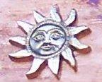 """Sunface Ornament 3"""""""