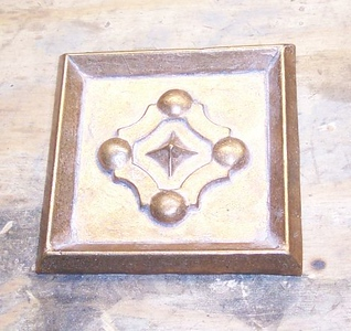 Cast bronze panel frames are available for most ornaments.