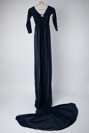 Steel Blue Open In Front Gown (Suggested Size: 4-14)