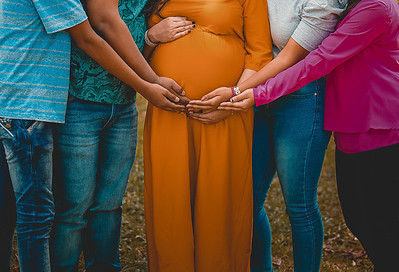 It's with a lot of love from the family. Creative Pregnancy photoshoots, Bangalore