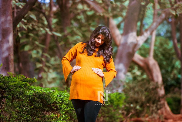 Mommy to be during a Maternity photoshoot session with Nevervoid Photography