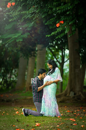 Maternity photoshoot session in Bangalore for the new parents