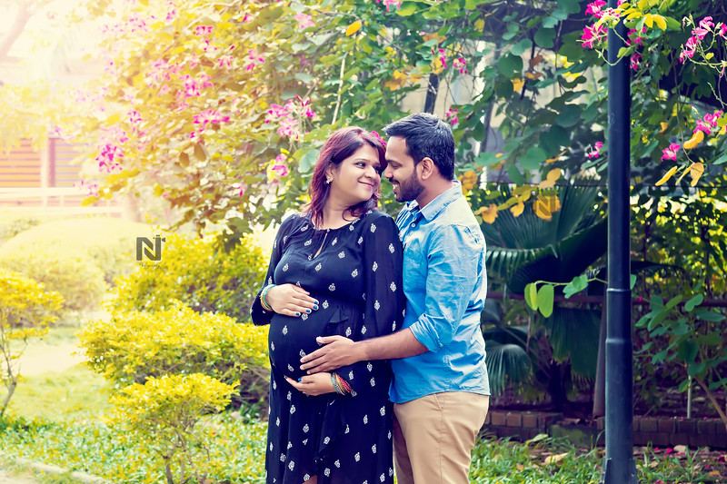 Gorgeous couple with their baby-bump in Chennai