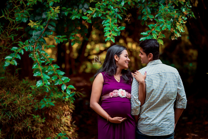 Beautiful couple doing their pregnancy photoshoot in Bangalore.