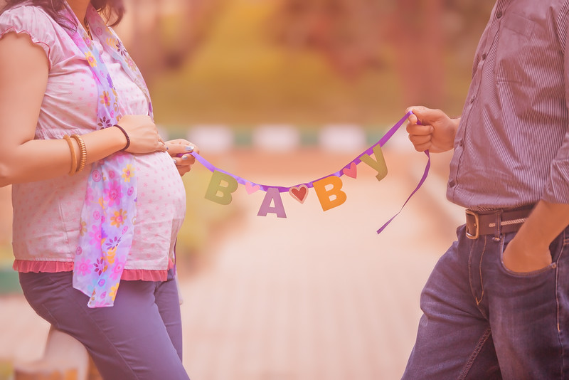 A new baby in the making - creative maternity photography